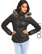 $400 Authentic Rare MISS SIXTY Women's Alisa Quilted Fur trim Hooded Jacket