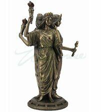 Bronze Finish Greek Goddess Hecate Triple Goddess Statue Figurine