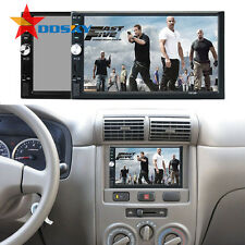 """Double 2DIN Car MP5 MP3 Player Bluetooth Touch Screen Stereo Radio HD +Camera 7"""""""