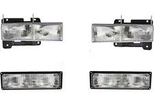 Chevy GMC Truck Headlights Signal Lamps 1994-1998 Set/4 95-99 Tahoe Suburban