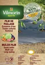 Film de paillage toutes cultures renforcées - 1,30m x 4m - 35µm - potager jardin