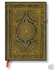 "Paperblanks Writing Journal Blank Midi Size Lined Ventaglio Marro Brn 5""x7"" NWT"