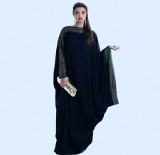 Abaya dubai kaftan gulfs stylish design maxi muslim dress Galabia Long Sleeve