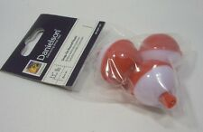 "Package of 3 Danielson 1 1/4"" Red & White Snap On Round Fishing Floats Bobbers"
