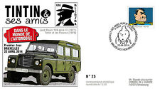 "FDC ""TINTIN et ses Amis - VOITURE / 4X4 LAND ROVER 109 - ALCAZAR"" 2014"