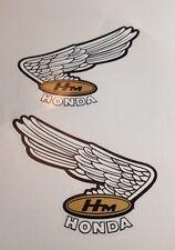 """HONDA CR750 HONDA CAFE RACER HONDA FOUR """"FUEL TANK DECALS"""" HONDA RACER BIKE"""