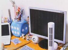 USB Mini Fan Bladeless No Leaf Air Conditioner USB Cooling Desk Tower Fan-White