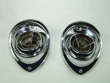 1964 1965 Pontiac GTO Chrome Dash Air Vent Bezel and Ball Set Show Quality