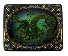 CLASSIC Russian Palekh Hand Painted Dragon Box
