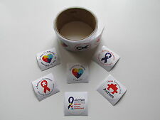 100 AUTISM AWARENESS STICKERS roll party favors supplies