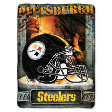 "Pittsburgh Steelers 60""x80"" Super Sized Royal Plush Raschel Throw Blanket"