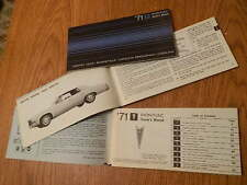1971 PONTIAC u.a.CATALINA Betriebshandbuch/Owner´s Manual,engl.Text,orig.GM !