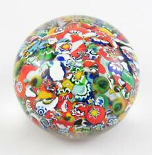 "Vintage Gentile Glass 2.75"" Tightly Packed Scramble Millefiori Paperweight 1978"