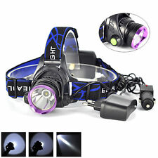 Bright 5000LM CREE XM-L T6 LED Headlamp Head Lamp  Light Torch + AC Car Charger