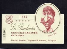 GEWURZTRAMINER ETIQUETTE COLLECTION LES BACCHANTES CARICATURE HENRI DES §27/05§