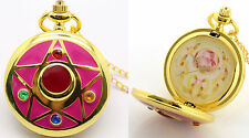 SAILOR MOON POKET WATCH OROLOGIO NECKLACE PRETTY GUARDIANS CIONDOLO ANIME #1
