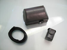 RARE LEICA D - LUX 4 TITANIUM EDITION ORIGINAL LEATHER CASE IN MINT CONDITIONS