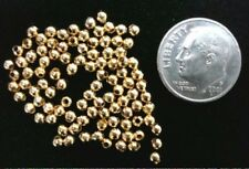 14kt Gold plated metal 2.4mm spacer beads filler round gold plated 100 pc fpb076