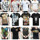 Fashion Casual T-shirts Tee Mens Short Sleeve Slim Fit Crew Neck Shirt Tops