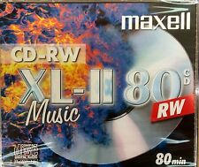 Maxell CD-RW80 XLII Audio Music Rewritable 80Min Jewel Case