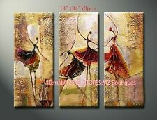 YH466 3PCS Hand painted Oil Canvas Wall Art Home Decor abstract dance NO Frame