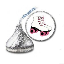 216 ROLLER SKATES SKATING HERSHEY'S KISS BIRTHDAY STICKER LABELS Party Favors