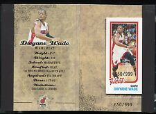 2007-08 Topps All-Star Booklet New Orleans Dwyane Wade w/ Mini Card #d 650/999