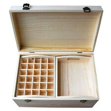 Multifunctional Essential Oils Wooden Storage Box Max 120 bottles Aromatherapy