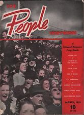 For People Everywhere March 1939 Myrna Loy VG 122915DBE2