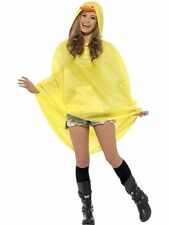 Unisex Womens Mens Duck Party Poncho Festival Animal Waterproof Fancy Dress Fun