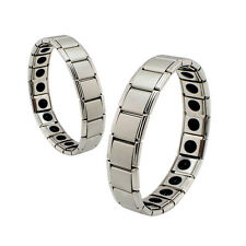 Anti-Fatigue Germanium Titanium Energy Bracelet Power Bangle For Men Silver