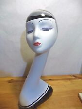 "Exquisite Female ~ 20"" Plastic/Fiberglass Mannequin Head"