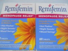 REMIFEMIN - Hot Flashes Menopause Relief - 60 Tablets each (2pks) Exp 2018