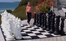 "MegaChess Giant Plastic Chess Set with a 37"" King"