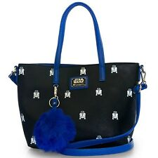 "NEW Loungefly X Star Wars Black/Blue ""R2D2"" Tote Handbag  -SALE"