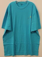 Polo Ralph Lauren Big and Tall Mens Aqua Blue Crewneck T-Shirt NWT XLT XLarge