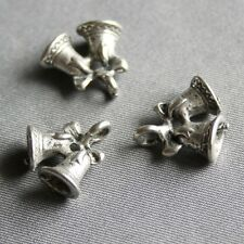 Antique Silver Charm Christmas Bell, bells charms, pendant bell pack of 10