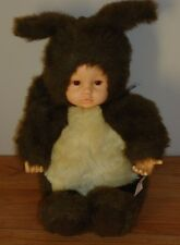 Anne Geddes SQUIRREL Girl Doll plush 1998 brown & tan 16""