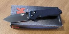 BENCHMADE HK New G-10 Handle Mini Axis Folder Black Plain D2 Blade Knife/Knives