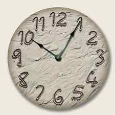 BEACH TIDE Wall CLOCK - Beach Sand Numbers - Beach Decor - 7113_FT