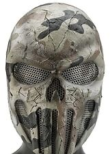 Army of Two Punisher Skull Desert Camo Custom Fiberglass Paintball Airsoft Mask