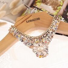 New fashion female collar necklace Sequin Pearl beads statement necklace