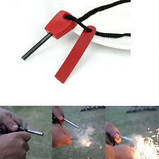 1pc Red Waterproof Magnesium Bar FlintStone Outdoor Emergency Gear Fire Starters