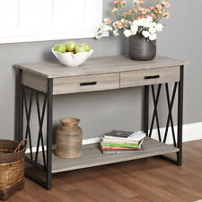 New Black Grey Reclaimed Wood Sofa Table Coffee Furniture End Modern Living Room