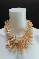 TWO BLONDE LIZARDS DOUBLE-STRAND SHELL CHOKER WITH GOLD-TONE CLASP
