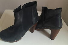River island block heel ankle boots size 6