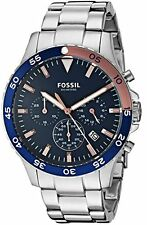 Fossil CH3059 Brand New Mens CREWMASTER Stainless Steel Analog Chronograph Watch