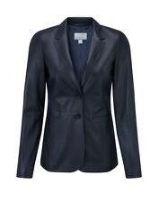 Pure Collection Leather Blazer Ink Blue Size UK 12 RRP £399 Box4592 A