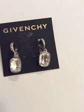 Givenchy~Silver~ Swarovski Crystal~Drop Earrings~ $45 Clear Item #107a (2)