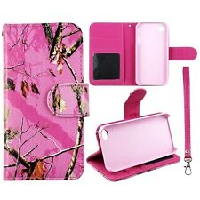 Pink Camo Mapel RT Wallet S Leather Flip Case for Apple iphone 4 4S Phn Cover